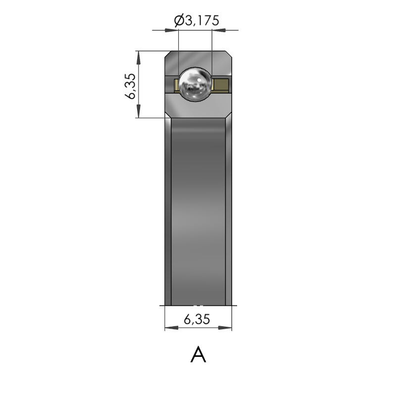 Dünnring Vierpunktlager CSXA