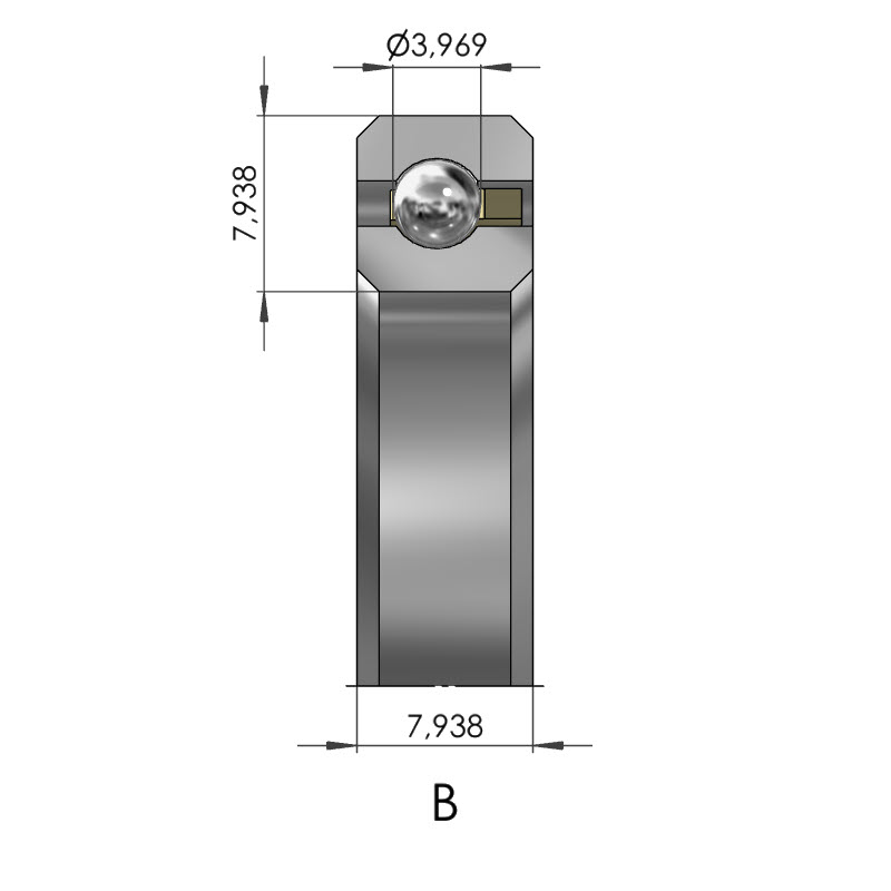Dünnring Vierpunktlager CSXB