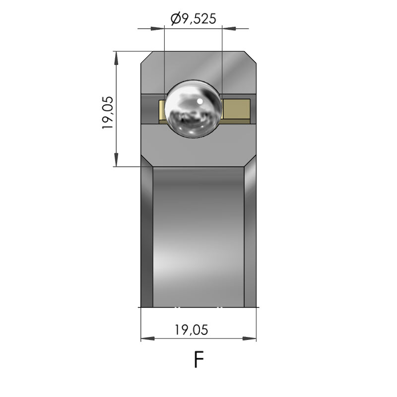 Dünnring Vierpunktlager CSXF
