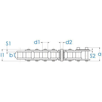 Landmaschinen Rollenkette DIN 8189