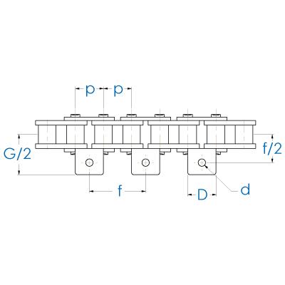 Rollenkette DIN 8187
