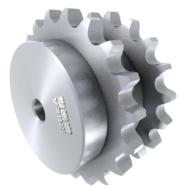 Doppel-Kettenräder nach DIN 8192 für nebeneinander laufende Rollenketten DIN 8187