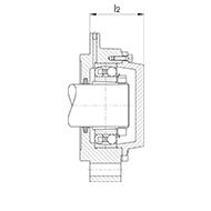Trommelinnenlagergehäuse für Pendelkugellager oder Pendelrollenager mit Spannhülse