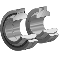 Radial Gelenklager GE...FO, DIN ISO 12240-1
