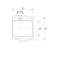Gleitlagergehäuse DIN502 Form B ohne Buchse