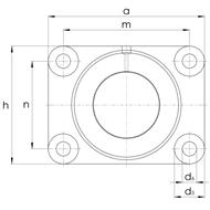 Gleitlagergehäuse DIN503 Form B ohne Buchse