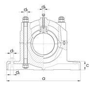 Gleitlagergehäuse DIN506 mit Buchse