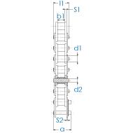Landmaschinen Rollenkette CA620 DIN 8189