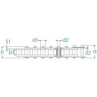 Rollenkette 12B-1 DIN 8187