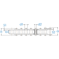Rollenkette 04C-1 DIN 8188