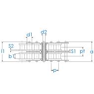Kettenrad 32B-2 DIN 8187