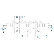 Einfach-Rollenkette mit einseitiger Winkellasche nach DIN 8187