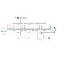 Rollenkette 12B-1-K1x1 DIN 8187