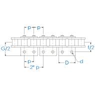 Rollenkette 10B-1-K2x1 DIN 8187