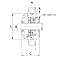 Strebenlagergehäuse für Pendelkugellager oder Pendelrollenager mit Spannhülse